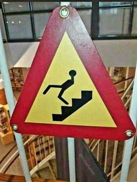 Stairs just for John Cleese? Weird! 😆