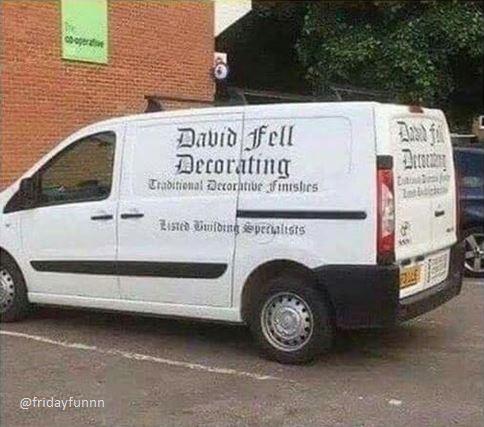 I hope David's OK! 😆