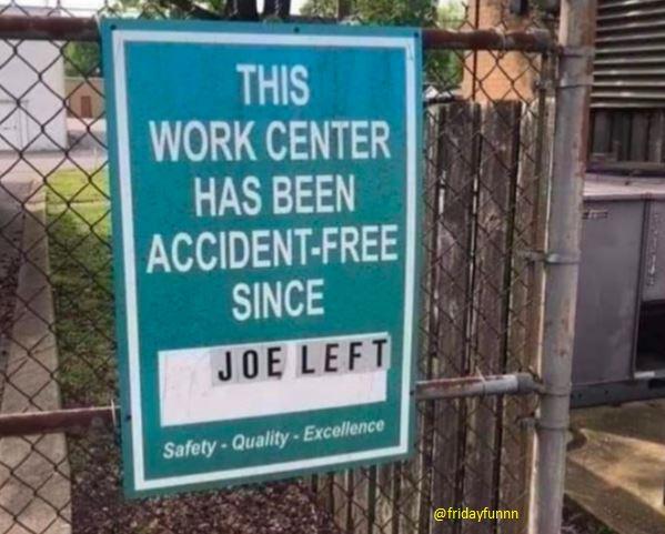 Poor old Joe! 😏