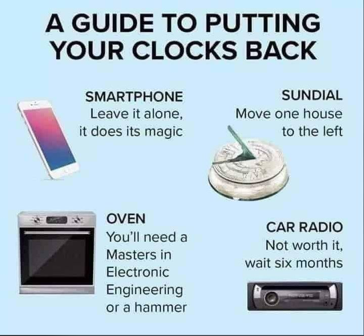 Helpful guide for this evening! 😀