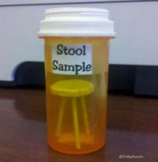 """Just done my first """"stool sample"""". Hope it's OK! 😀"""