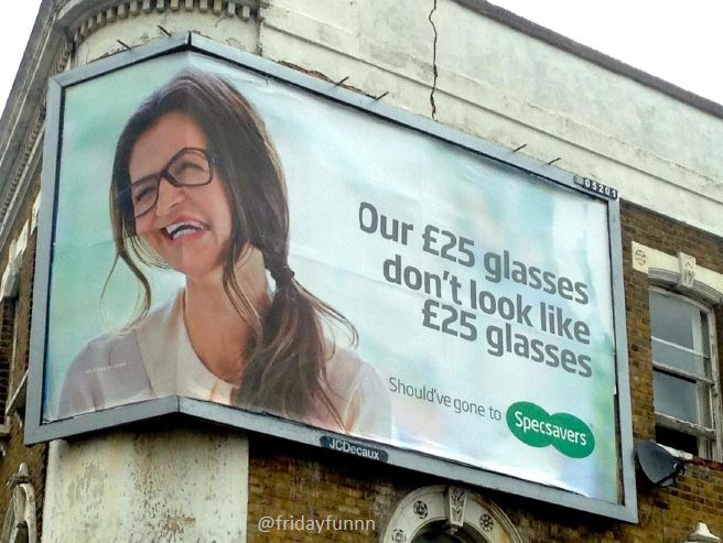 The billboard designer should have gone to Specsavers! 😀