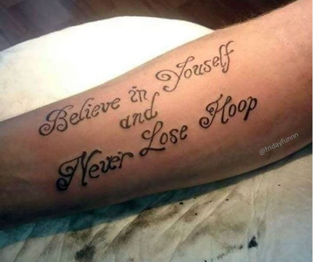Opportunity for a tattoo spell check app or summat? 😏