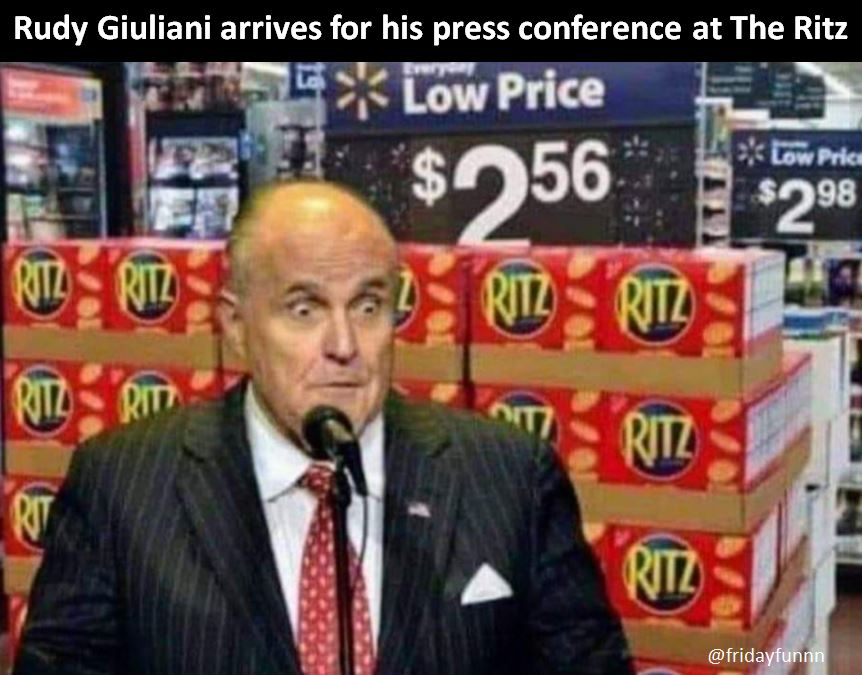 Meanwhile in Washington, Giuliani does it again! 😀