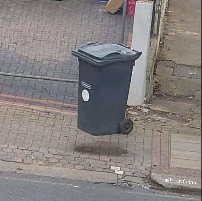 If you see a floating bin you've been in lockdown too long! 😀