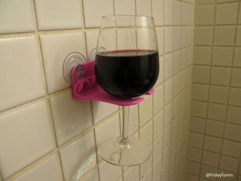 Just added this handy shower accessory to my christmas list! 🍷