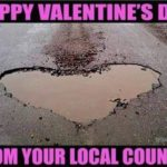 A romantic message from the local council! 😀