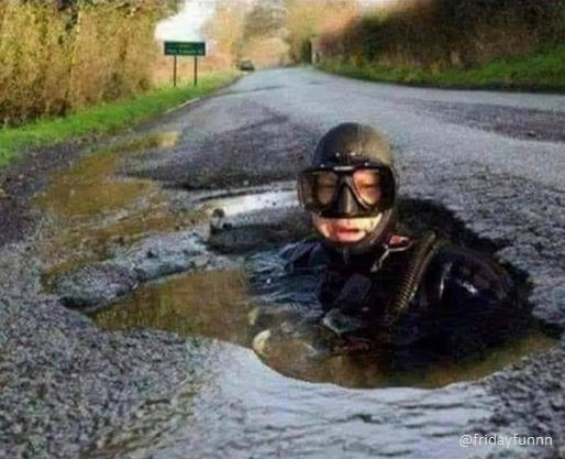 The council confirms the potholes are not bad enough to fix yet! 😀