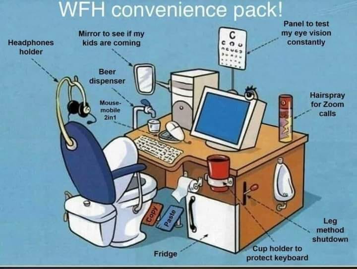 Do we all love working at home! I'm sorted! 😀
