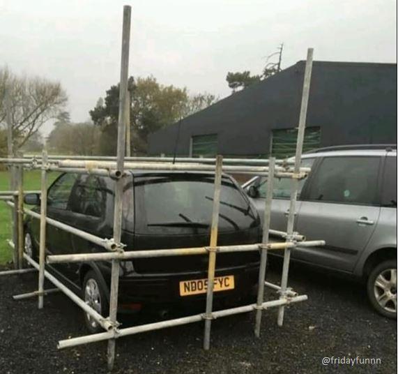 Top tip: Never piss of a scaffolder!👍