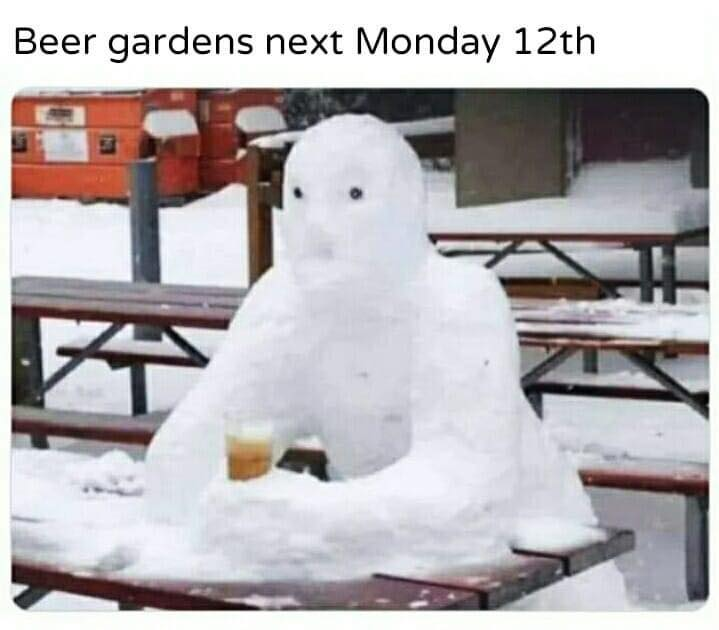 Looking forward to going back to the pub? 😀