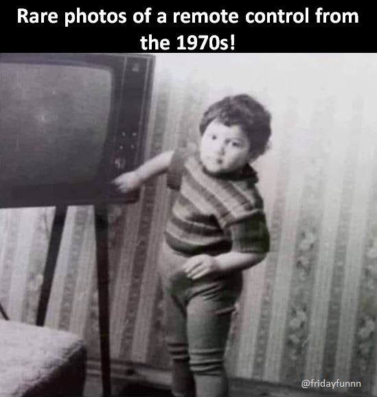 Anyone remember being the remote control? 😆