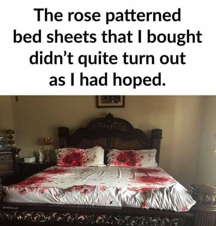 The designer should be shot (on the bed preferably!) 😀