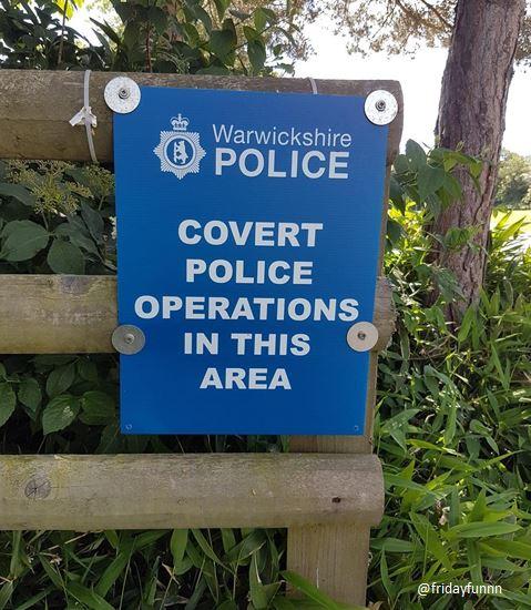 Warwickshire Police - smart bunch eh? 😀