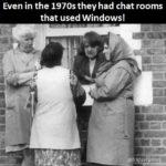 1970s chat room using Windows! 😀
