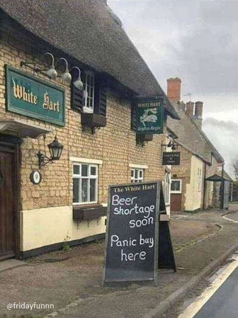 Beer shortage soon! 😊