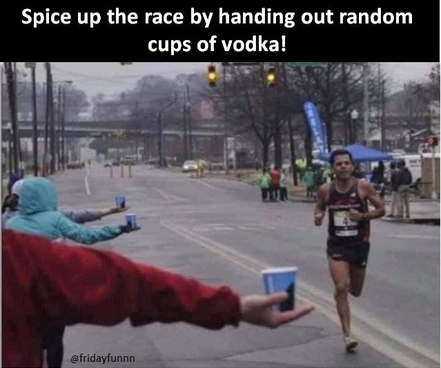 Good luck to the Marathon runners today! 👍