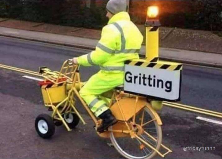 Despite cuts, the council still prepares us for the cold weather! 😀